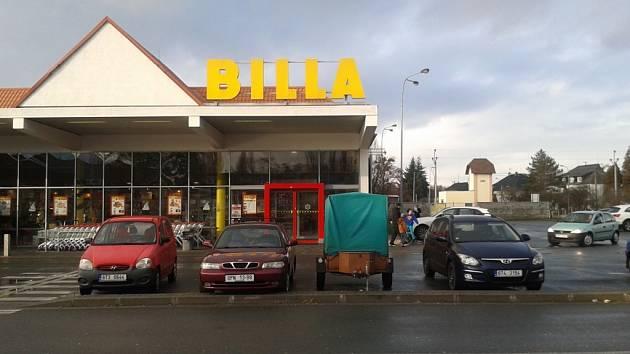 Hlučínská prodejna Billa.