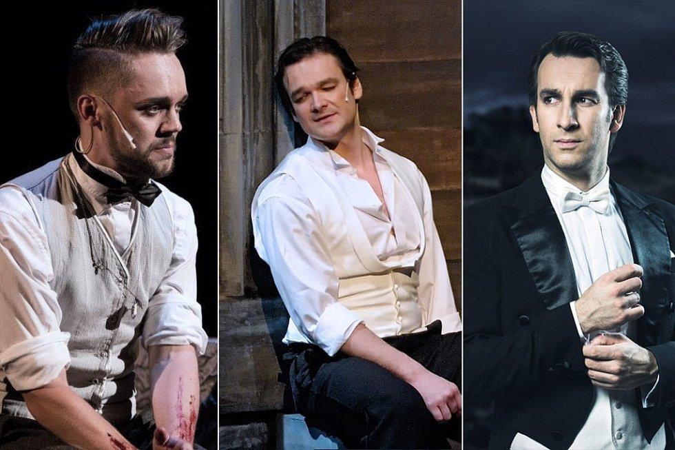 Vkategorii muzikál/opereta za muže jsou nominováni Lukáš Adam, Tomáš Novotný a také Lukáš Vlček.