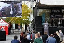Studenti Ostravské univerzity ve středu obsadili Masarykovo náměstí v centru Ostravy.