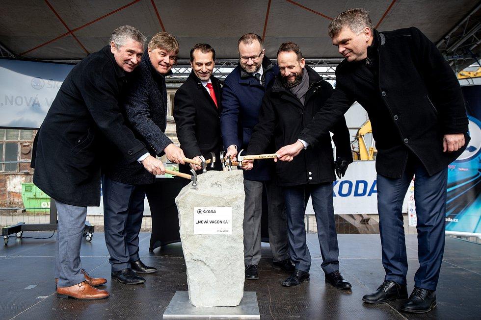 Snímek ze zahájení stavby Nové Vagonky, 27. února 2020 v Ostravě.