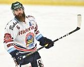 Utkání 30. kola hokejové extraligy: HC Vítkovice Ridera - HC HC Škoda Plzeň, 28. prosince 2018 v Ostravě. Na snímku (zleva) Jan Výtisk.
