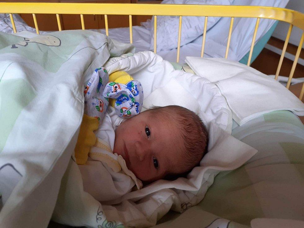 Robin Karas, Hlučín narozen 21. dubna 2021 v Opavě míra 50 cm, váha 3750 g. Foto: Fridrichová Tereza