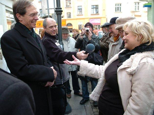Jan Švejnar v ulicích Ostravy