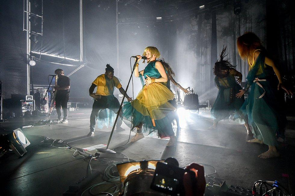 Hudební festival Colours of Ostrava 2018 v Dolní oblasti Vítkovice, 19. července 2018 v Ostravě. Na snímku Aurora.