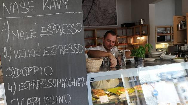 Mléčný bar Naproti v centru Ostravy.