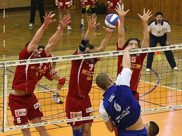 Ze zápasu play off mezi Kladnem a DHL Ostrava