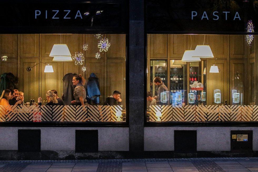 Pizzerie Coloseum na Masarykově náměstí, 29. prosince 2018 v Ostravě.
