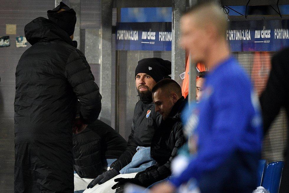 Utkání 20. kola první fotbalové ligy: Baník Ostrava - Sparta Praha, 14. prosince 2019 v Ostravě. Na snímku Milan Baroš na lavičce.