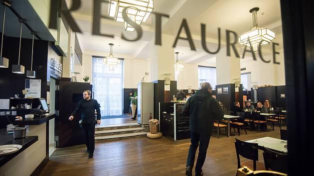 Radniční restaurace v Ostravě. Snímek z ledna 2019.