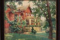 Vila ve Vítkovicích, obraz rakouského malíře Hanse Götzingera z roku 1923.