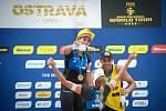 Turnaj Světového okruhu v plážovém volejbalu - semifinále, 24. června 2018 v Ostravě. Na snímku Barbora Hermannová a Markéta Sluková.
