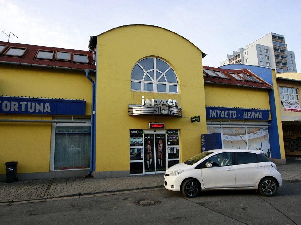 Herna Intacto na ulici Jiřího Herolda v Ostravě.