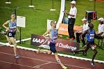 56. ročník atletického mítinku Zlatá tretra, který se konal 28. června 2017 v Ostravě. Na snímku (zleva) Sasínek, Holuša, Kipkoech.