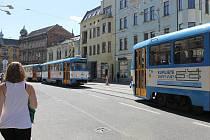 Rekonstruovaná Nádražní ulice v centru Ostravy. Ilustrační foto.