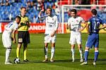 FC Baník Ostrava – SK Slavia Praha, zleva Martin Fillo, Martin Šindelář, Robert Hrubý, Josef Hušbauer