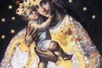 Původní milostný obraz Panny Marie, nacházející se nyní ve farním kostele ve Zlatých Horách