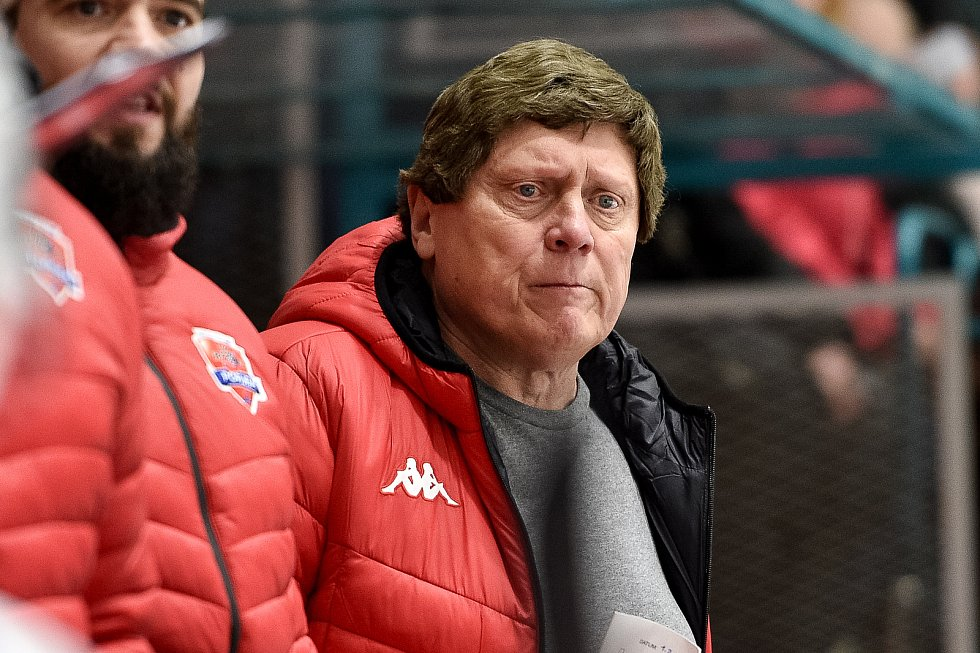 František Výborný.(snímek ze zápasu 48.kola Chance ligy: HC RT Torax Poruba - Slavia Praha, 1. února 2020 v Ostravě).