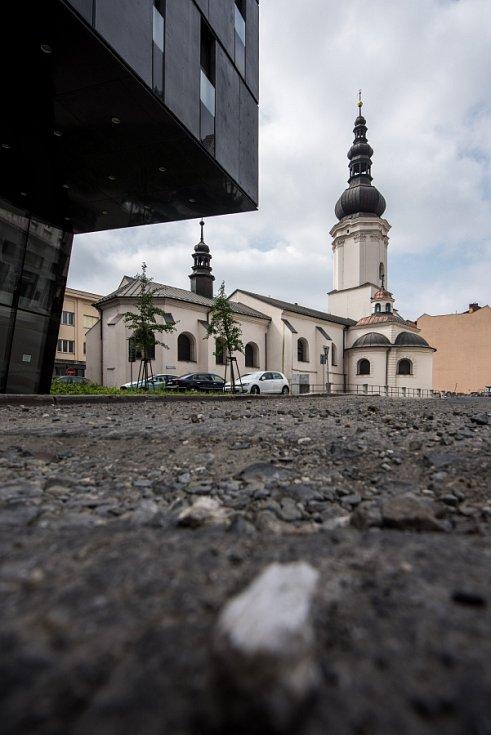Kostelní ulice v centru Ostravy, červenec 2016. Ilustrační foto.