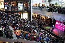 O víkendu pokračovaly oslavy prvního výročí nákupního a zábavního centra Forum Nová Karolina v Ostravě.