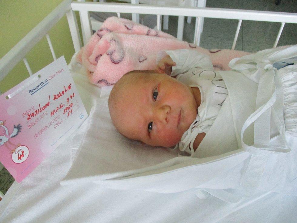 Rozálie Zajícová, narozena 18. 8. 2020 v Nemocnici v Břeclavi, míra 51 centimetrů a váha 3960 gramů, bydliště Bruntál.