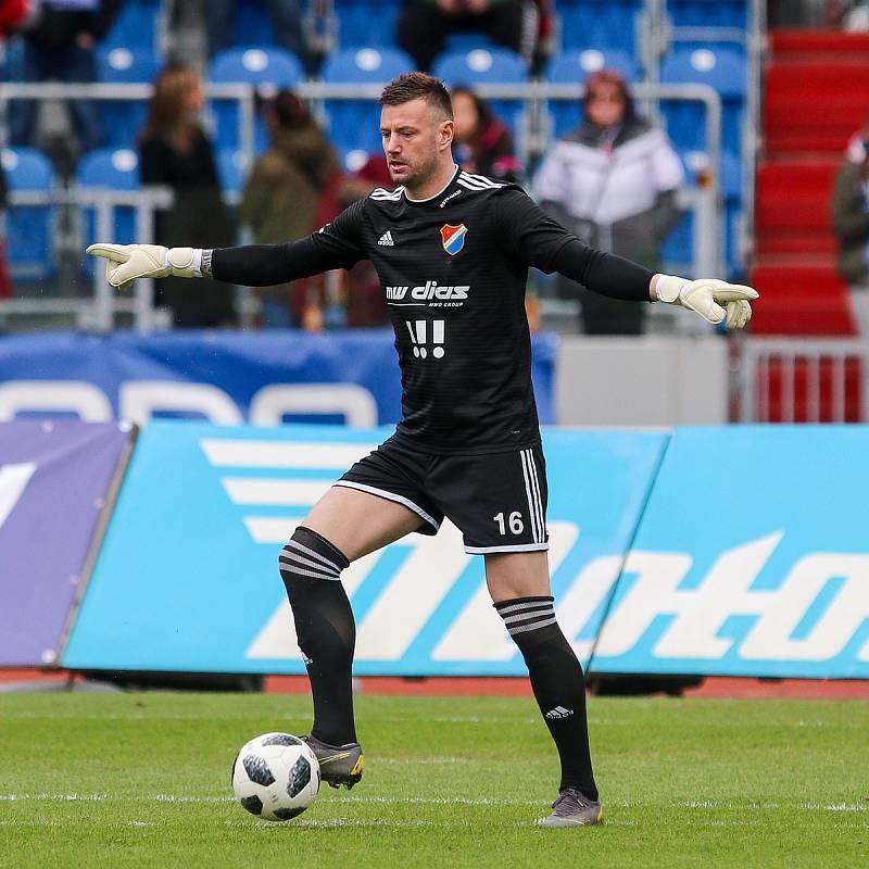 Utkání 25. kola první fotbalové ligy: FC Baník Ostrava - FK Mladá Boleslav, 16. března 2019 v Ostravě. Na snímku Jan Laštůvka.