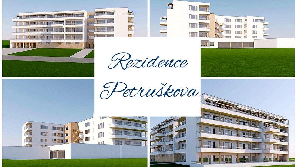 Rezidence Petruškova - vizualizace.
