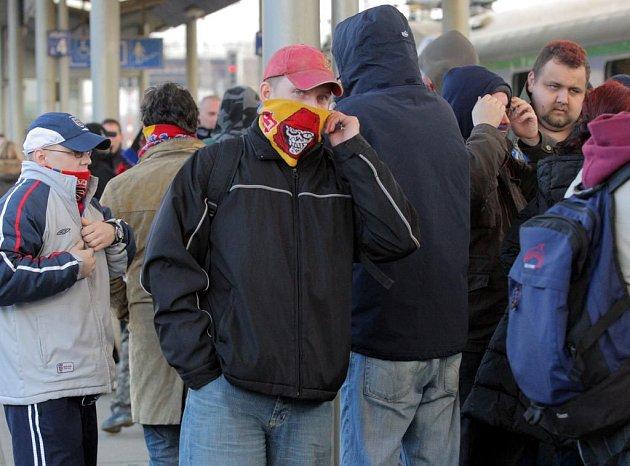 Sparťanští fanoušci na ilustračním snímku