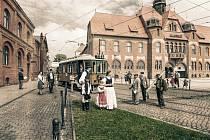 Ostravský fotograf Boris Renner vydal loni kalendář ke 100. výročí Československa Příběhy staré Ostravy. Na snímku je titulní list tohoto kalendáře.