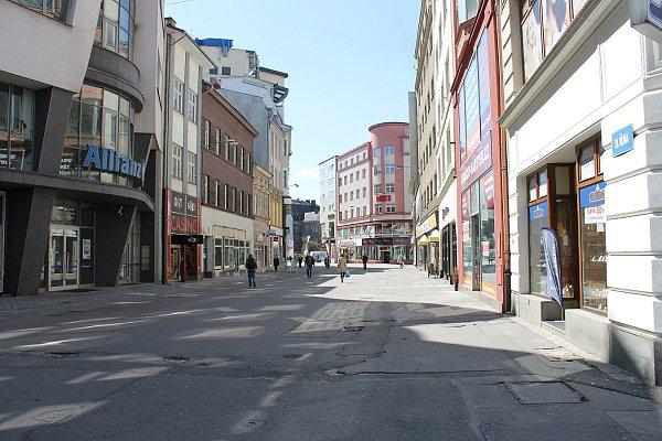 Ulice 28.řijna vcentru Ostravy.
