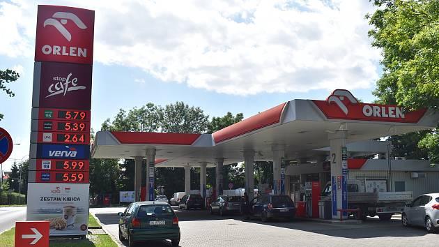 Pumpa v polských Glubczycích (Krnov), červenec 2021.