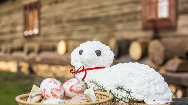 Velikonoční beránek profesionální valašské cukrářky