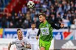 Utkání 25. kola první fotbalové ligy: FC Baník Ostrava - FK Mladá Boleslav, 16. března 2019 v Ostravě. Na snímku (zleva) Jiří Fleišman, Tomáš Ladra.