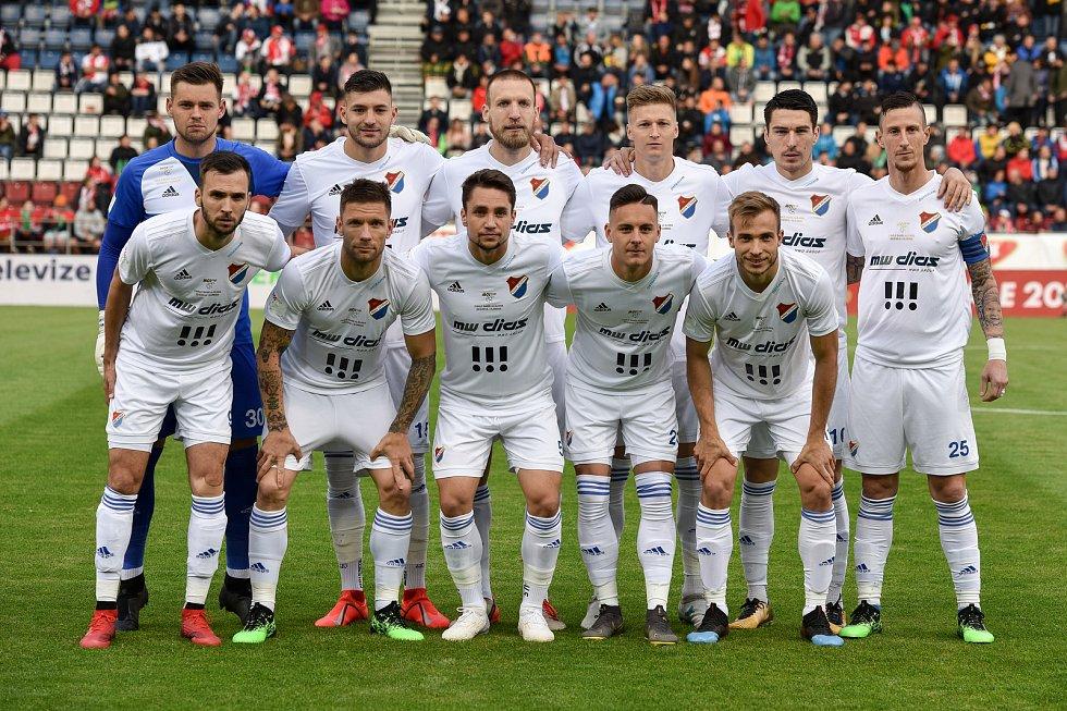 Finále fotbalového poháru MOL Cupu: FC Baník Ostrava - SK Slavia Praha, 22. května 2019 v Olomouci. Na snímku tým Baníku.