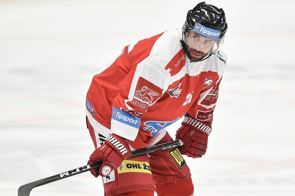 Utkání 44. kola hokejové extraligy: HC Vítkovice Ridera - HC Olomouc, 23. ledna 2019 v Ostravě. Na snímku Irgl Zbyněk.