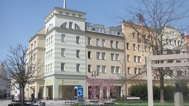 Obchodní dům Prior v Krnově, duben 2018.