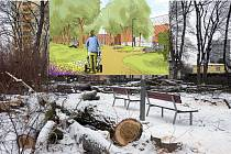 Vybudovány budou nové chodníčky s přírodních materiálů.