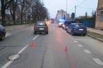 Snímek z dopravní nehody v Ostravě-Vítkovicích.