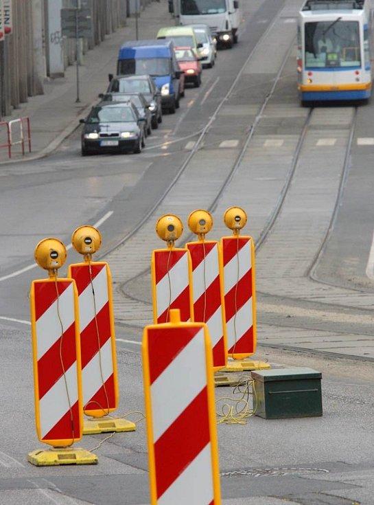 Ulice 28. října v Ostravě na počátku týdne