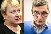Liana Janáčková vlevo a Zdeněk Nytra vpravo postupují do 2. kola senátních voleb.