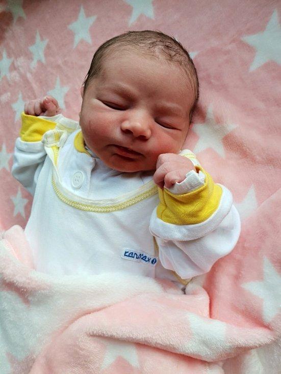 Vanessa Martinková, Opava, narozena 3. června 2021 v Opavě, míra 48 cm, váha 3220 g.