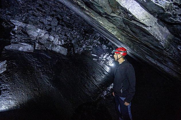 Uměsta Odry se otevřel Flascharův důl, kde se vminulosti těžila břidlice, 9.července 2020.Jeden ziniciátorů projektu Jakub Zeman.