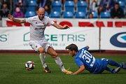 Utkání 1. kola první fotbalové ligy: FC Baník Ostrava - FC Slovan Liberec, 13. července 2019 v Ostravě. Na snímku (zleva) Tomáš Smola, Taras Kačaraba.