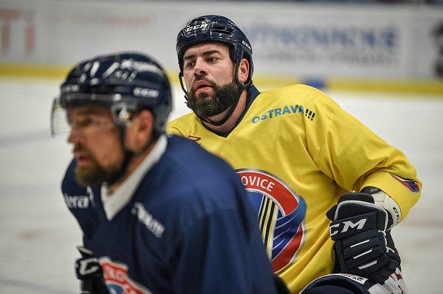 Hokejisté HC Ridera Vítkovice 2.srpna 2020vOstravě na tréninku. Roman Polák