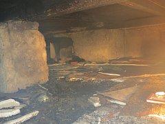 U pondělního požáru podkroví rodinného domu v Třinci po třiadvacáté hodině zasahovaly tři hasičské jednotky.