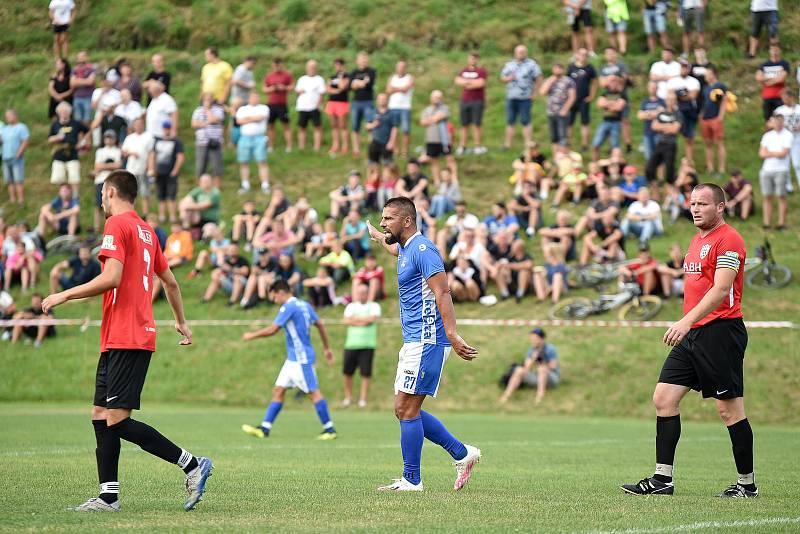 Fotbalový zápas FK Vigantice - TJ Juřinka, 14. srpna 2020 ve Viganticích. Milan Baroš.