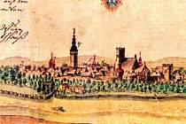 Takto vypadala Moravská Ostrava v roce 1728, tedy devět let po smrti V. B. Jestřábského. Kolorovaná kresba je z Hofferovy sbírky v Brně.