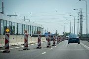 Oprava silnic, 12. června 2019 v Ostravě. Na snímku ulice Opavská.