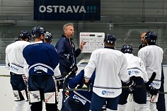 První trénink na ledě hokejistů HC Vitkovice Ridera v rámci přípravy na novou sezonu, 18. července 2018 v Ostravě.