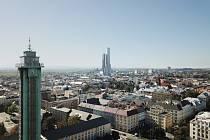 Takto by se měla Ostrava Tower (ostravská věž) tyčit nad krajskou metropolí. Mrakodrap má být s 230 metry nejvyšší stavbou v zemi. Oproti původním návrhům se má ale o osm metrů sníží a bude jej tvořit pouze jedna budova.