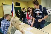Studentské volby na Gymnáziu v Hladnově.